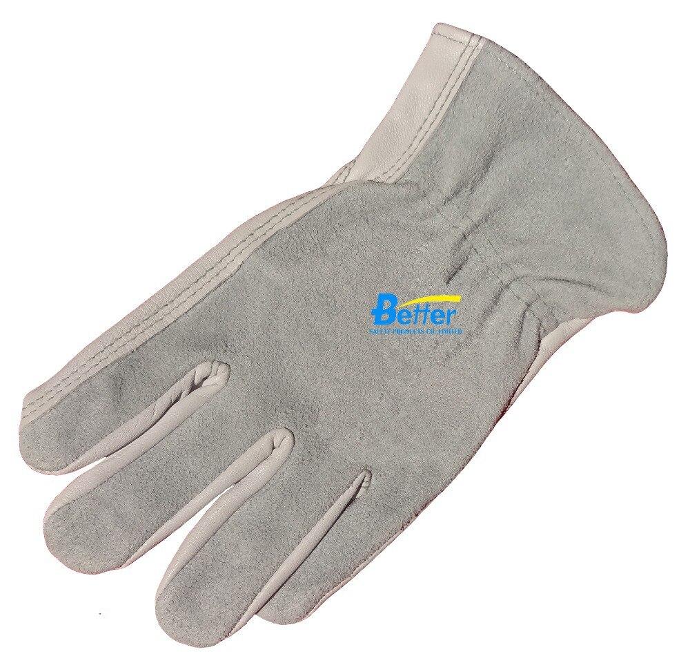 Goatskin leather work gloves - Work Glove Goat Leather Driver Gloves Welding Glove Comfoflex Top Grain Goat Leather Safety Gloves