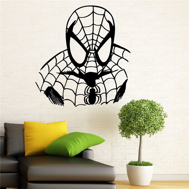 Spiderman Wall Decal Wall Vinyl Sticker Marvel Comics Superhero Interior  Home Art Wall Murals Bedroom Decor  In Wall Stickers From Home U0026 Garden On  ...