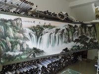 3.5 meters Large HUGE TOP foreign business gift Home SHOP WALL Decorative FENG SHUI art chinese Landscape painting work