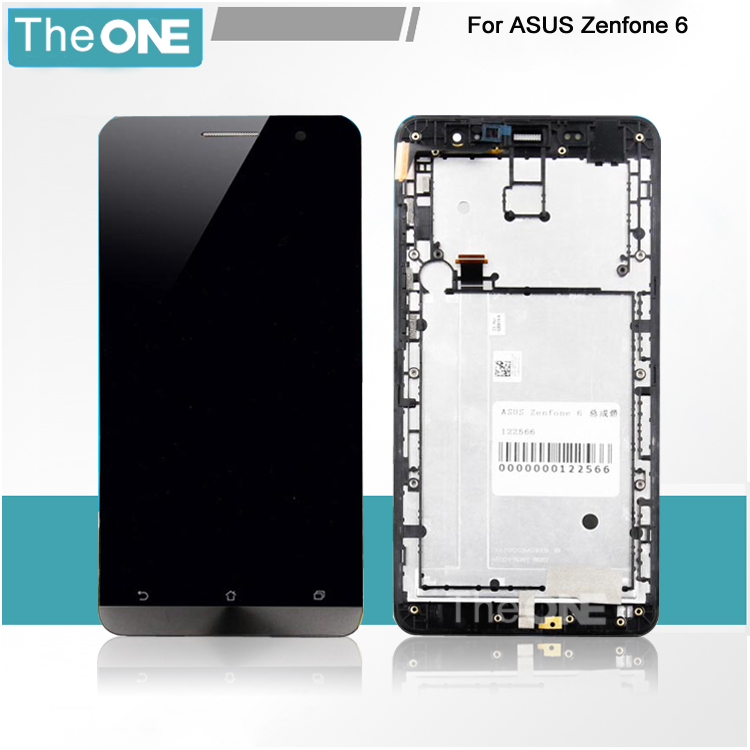 In Stock Black Zenfone 6 LCD Display And Touch Screen Assembly With Frame For Asus Zenfone 6 Free Shipping