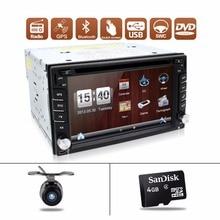 Coche dvd 2 din Navegación GPS 6.2 inch 2din Universal Car Radio En Dash Stereo Video Libera El Mapa