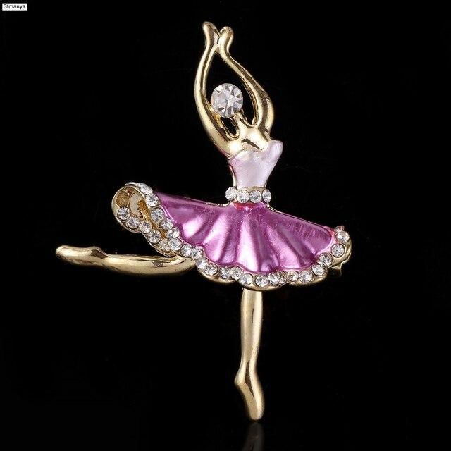 8b366d3243 New Hot Linda Princesa Bailarina Broche Requintado rooch Corsage Broche Pin  broche Ballet Girl Fashion