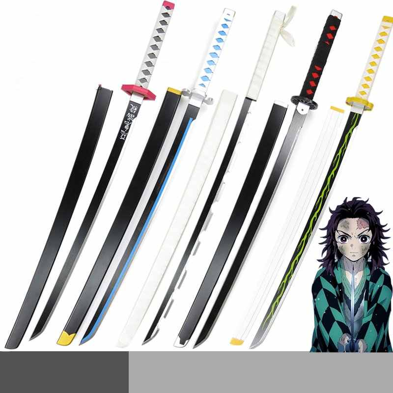 Demon Slayer:Kimetsu no Yaiba  Kamado Tanjirou Agatsuma Zenitsu All Members Cosplay Wooden Sword Stage Performance Cosplay Props