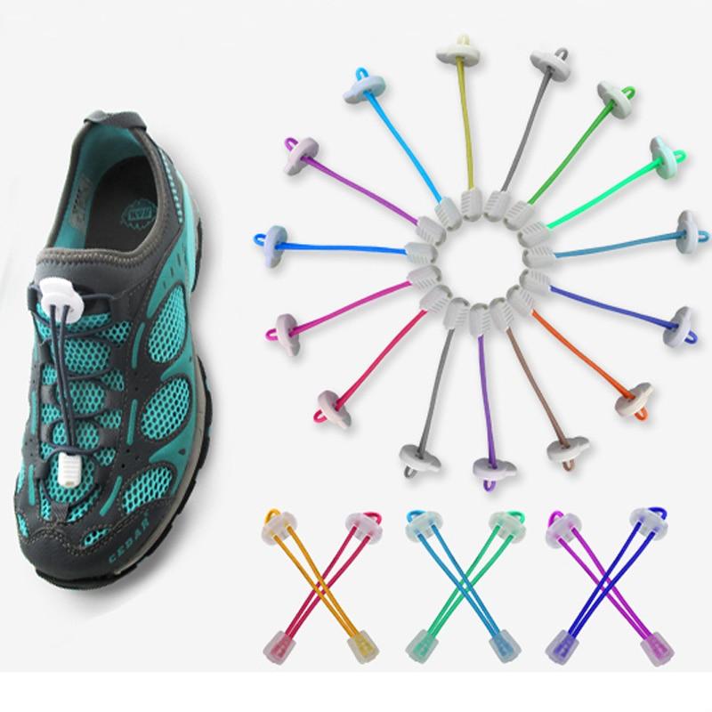 Elastic No-Tie Quick Lock Shoelaces Sport Running Jogging Shoes Laces String