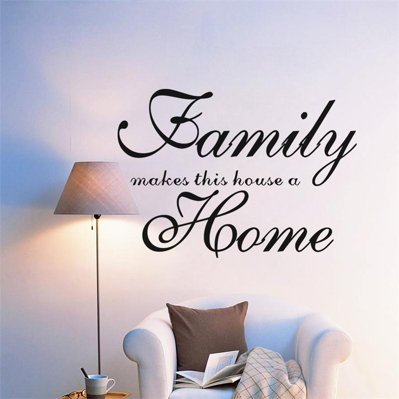Home Garden Family Wall Art Quote Wall Sticker Vinyl Decal Home Art Decor  Paper Wall Mural ZY8417 In Wall Stickers From Home U0026 Garden On  Aliexpress.com ...