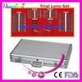 158AL-JS 158 pcs oftálmica Trail Lens Set caso aro de Metal brilhante caso de alumínio mais baixos custos de envio
