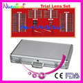 158AL-JS 158pcs Ophthalmic Trail Lens Set Case Shiny Metal Rim Aluminum Case Lowest Shipping Costs !