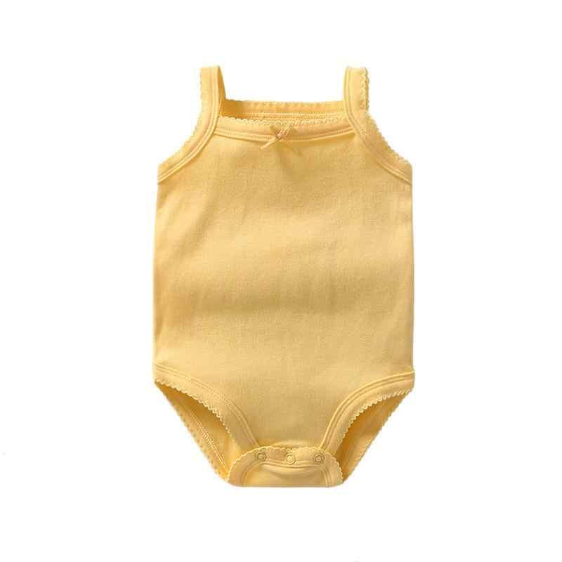 Noworodek dziewczynka letni kombinezon jednoczęściowy Ruffles kombinezon bez rękawów Romper ubrania stroje Onesies ubranka dla dzieci kostium dla malucha Babygrow