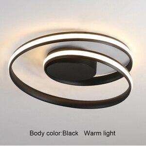 Image 5 - AC85 265V Plafond Verlichting LED Lamp Voor Woonkamer Slaapkamer Studeerkamer Thuis Modern Wit of Zwart opbouw Plafond Lamp