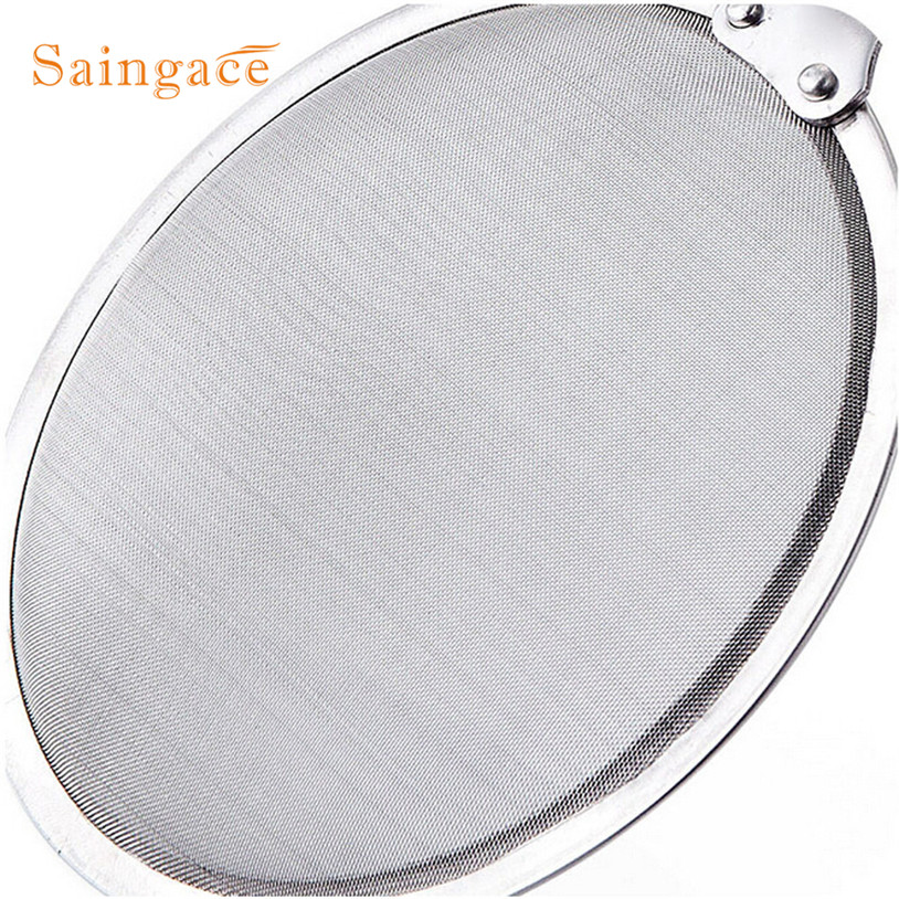 Kitchen Stainless Steel Mesh Hanging Oil Filter Net Strainer Scoop Spoon With hanging hole design Kitchen tools in Colanders Strainers from Home Garden