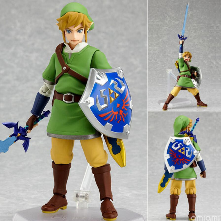 Original Box The Legend of Zelda Figma Link Action Figure 14cm PVC Model Great for Collection Nintendo 3DS Kids Baby Toys Gift anime the legend of zelda 2 a link between worlds link figma 284 pvc action figure collectible model kids toys doll 10 5cm