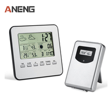 Buy 7 languages LCD Wireless Weather Station Digital Indoor/Outdoor Thermometer Hygrometer Temperature Humidity Meter Alarm Clock