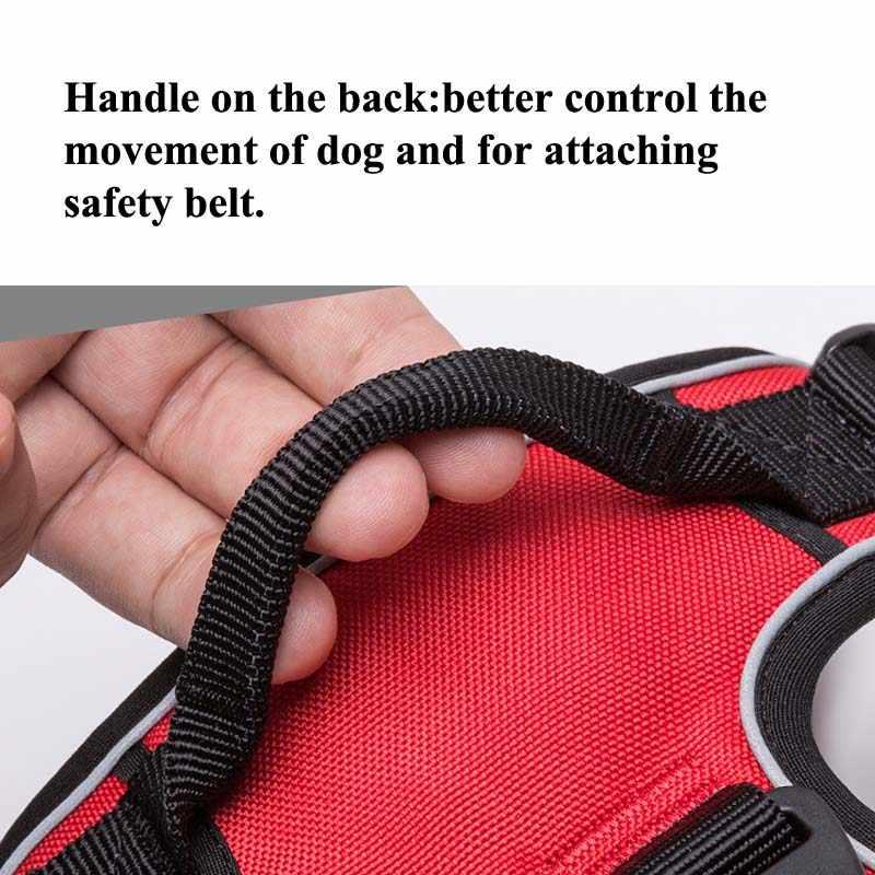 エック反射ナイロン大型ペット犬ハーネス全天候サービス犬 ves パッド入り調整可能な安全車両犬ペット