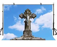 7x5ft Backdrop Outdoor Cross Backdrop Jesus on the Cross Photography Background стоимость