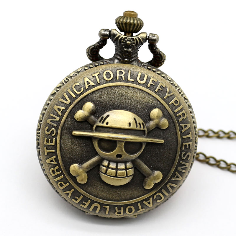 3D Steampunk Skull Pocket Watch Men Cartoon Anime Watch Quartz Movement Fob Watches Women Gift For Pendant Clock With Necklace