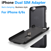 Good Quality Bluetooth Dual SIM Dual Standby Adapter For iPhone 6/6s iKOS K2 GoodTalk Phone Cases Shell Ultra-thin Back Clip