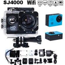 Livraison gratuite! SJ4000 WIFI 1080 P Full HD Action Camara Plongée Casque Sport HD Mini Caméra 30 M Étanche Go pro hero 3 Cam Style