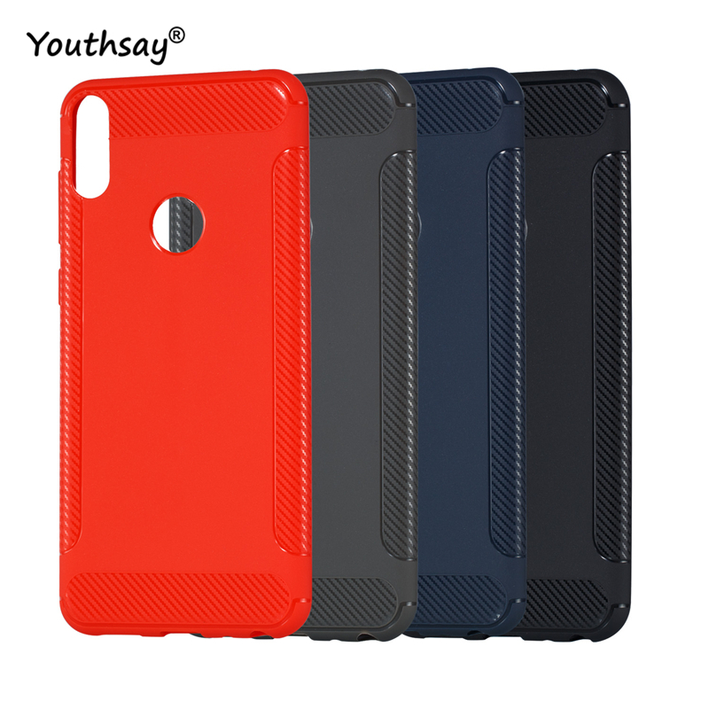 For Cover Asus Zenfone Max Pro ZB601KL Case Anti-Knock Matte Soft Carbon fiber TPU Shell Phone Case For Asus Zenfone Max Pro