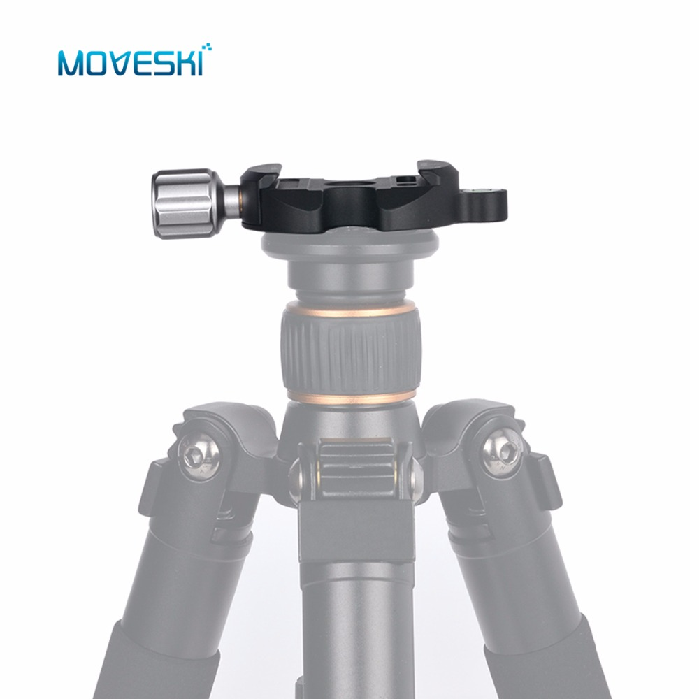 Moveski DM-55N Quick Release Plate 1/4 & 3/8 Screw Hole Aluminum Quick Release Clamp Compatible for Arca Swiss
