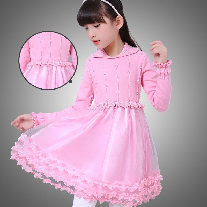 6efa75062a7fa Dentelle filles pull à col roulé cardigan robes enfants princesse vêtements  enfants vetement enfant disfraz nina prinsessen jurken dans Robes de Mère  et ...
