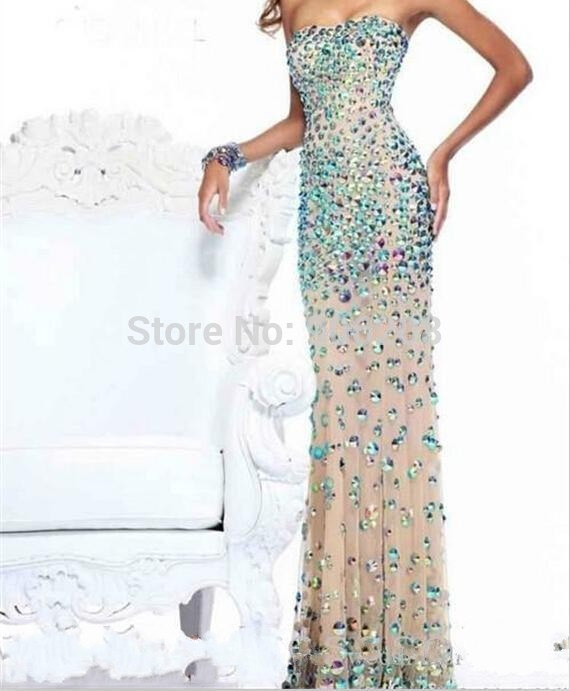 New style Taffeta Prom dresses 2015 Mermaid Beads lady formal party gowns...