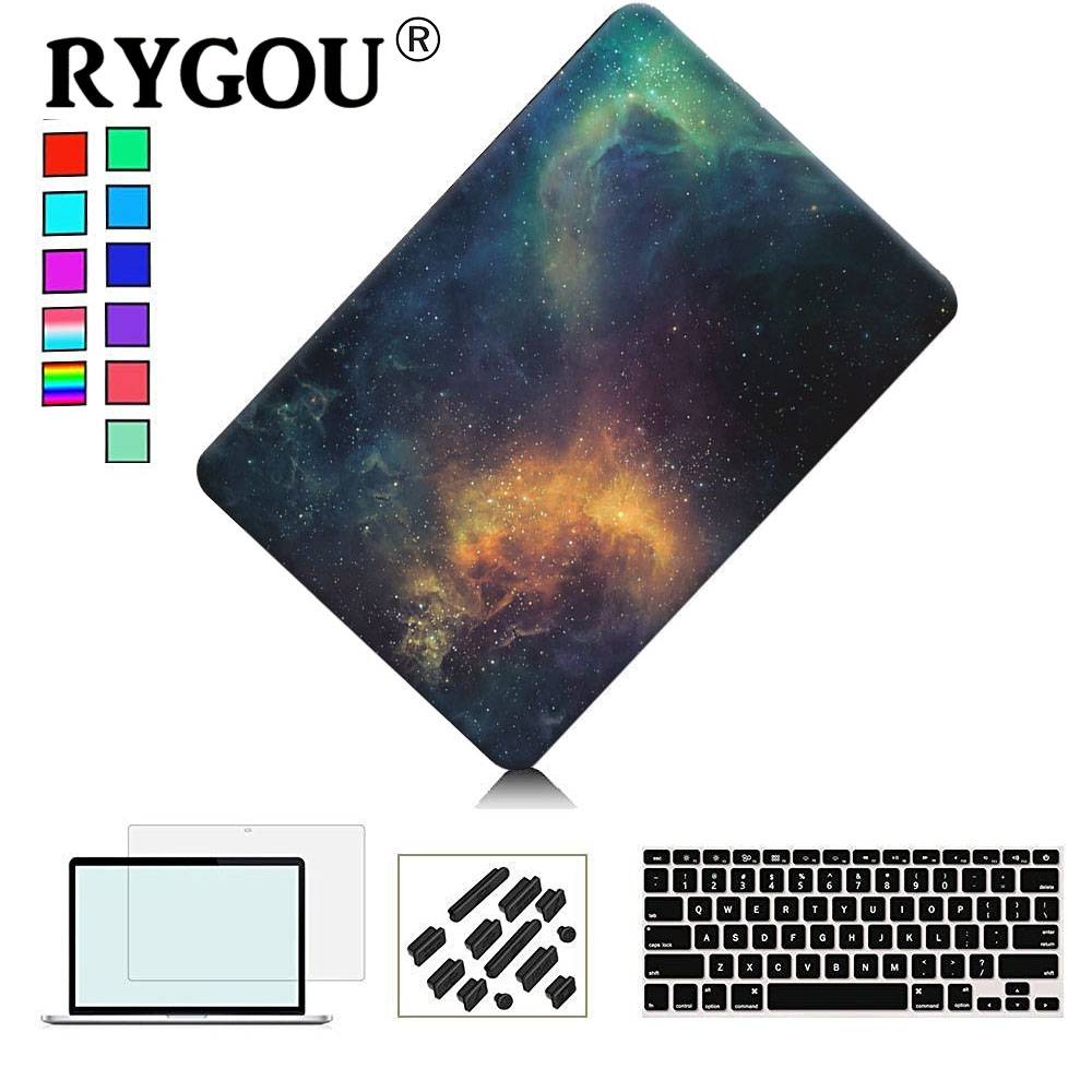 RYGOU Matte Hard Case for Macbook Pro 13 15 with Retina A1425 A1502 նոութբուքի պահարաններ Mac Book Pro 13 15 2016 A1706 A1708 A1707