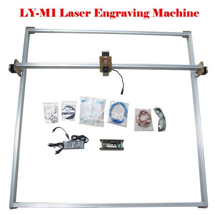 Russia no tax 5500MW Desktop DIY Violet LY M1 Laser Engraving Machine 3D Printer 100*100CM 100 100cm ly m1 cnc printer 5500mw laser cnc machine