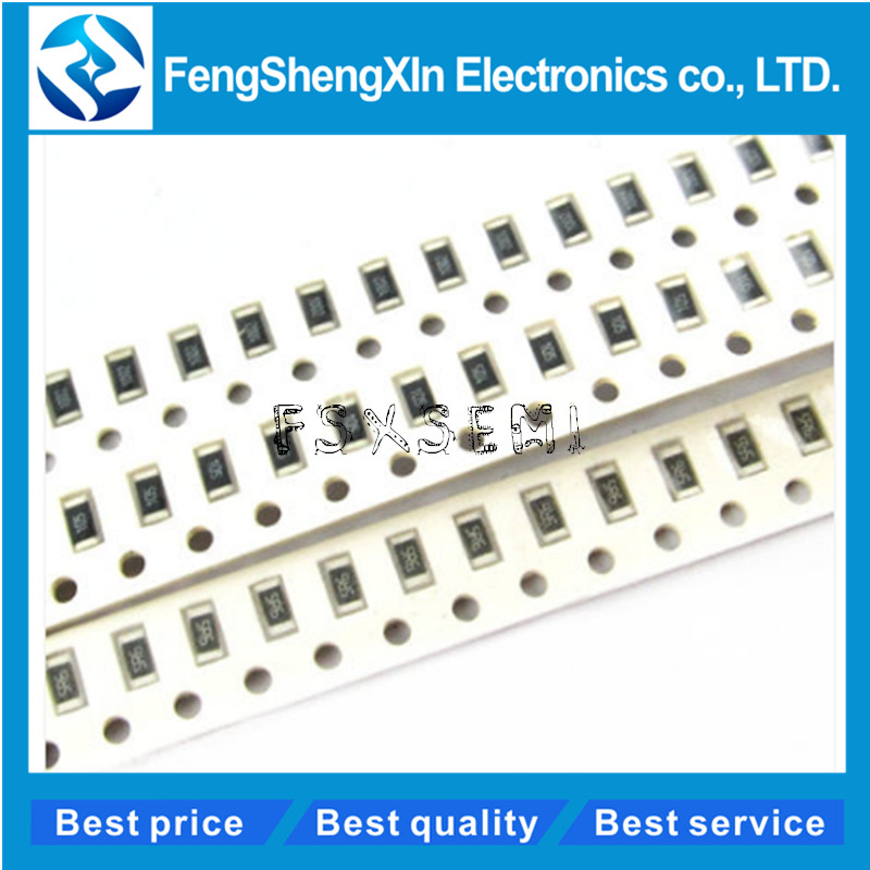 100pcs/lot 1206 SMD Resistor 0R ~ 10M 1/4W 0 1 10 100 150 220 330 Ohm 1K 2.2K 10K 100K 0R 1R 10R 100R 150R 220R 330R