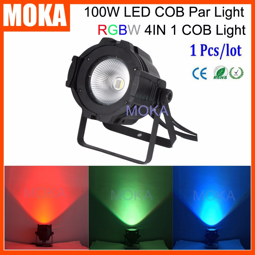MOKA Factory Price 100W LED COB Stage Disco Bar Par Light RGBW 4in1 UV Mix Color Par Projector Outdoor Indoor Show Effect Light