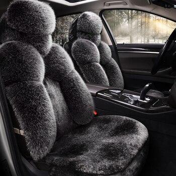 Keep warm Long plush car seat cover Car Seat Cushions Car pad Car Styling For Hyundai i30 ix35 ix25 Elantra Santa Fe Sonata Tucs