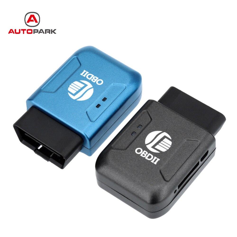 Obd Ii Gps Realtime Tracker Car Mini Spy Tracking Device System Gsm Gprs Blue Universal