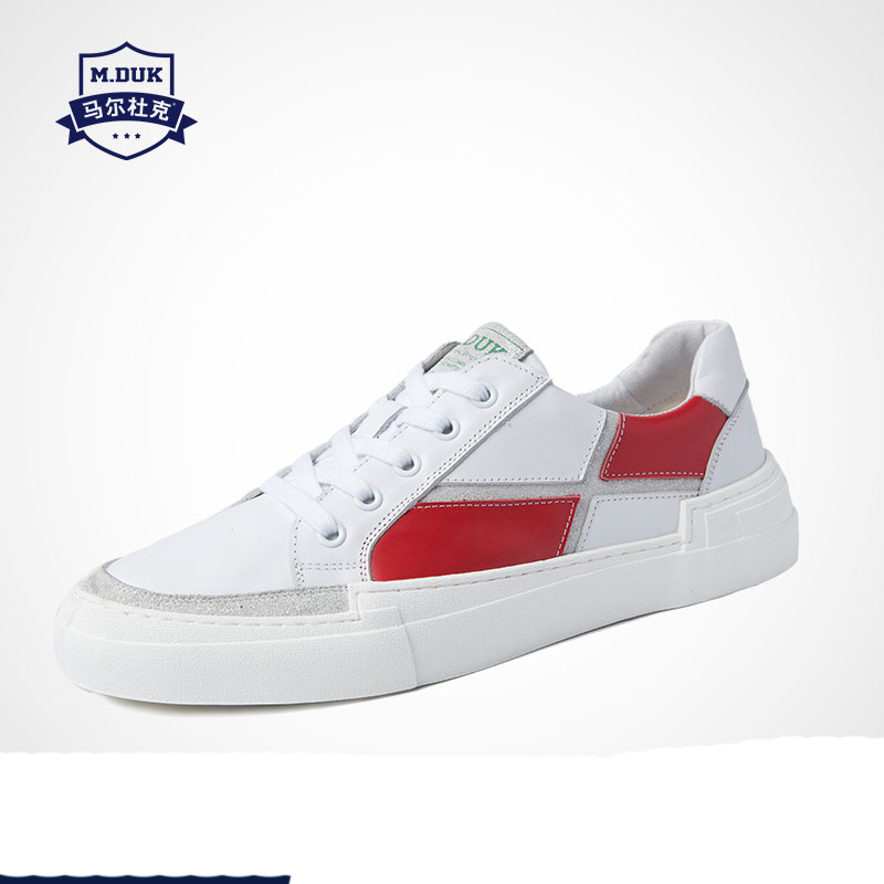 White Korean Leisure Shoes Mens Genuine Leather Board men designer sneakers British retro shoes cowhide spring