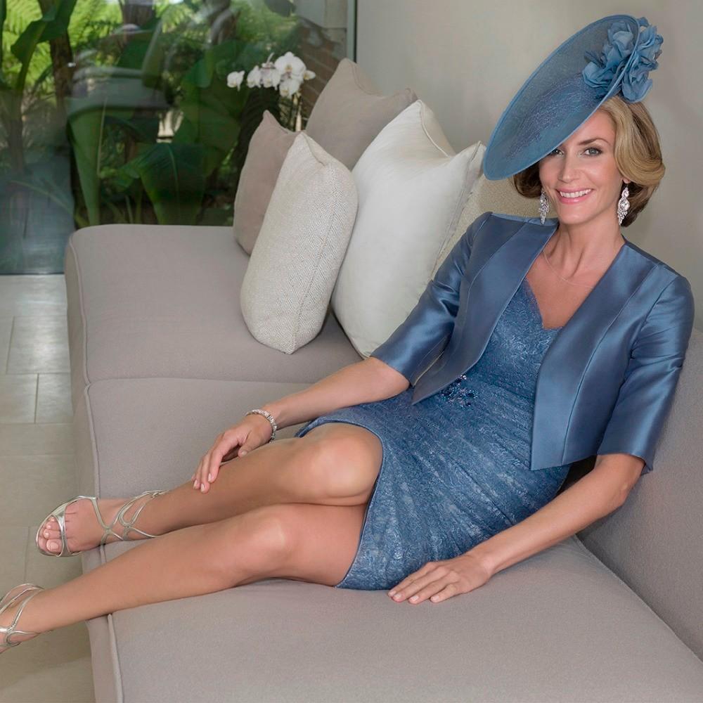 Elegant-Dark-Blue-Beaded-Pleated-Lace-Mother-of-the-Bride-Dresses-2016-Half-Sleeve-Satin-Jacket