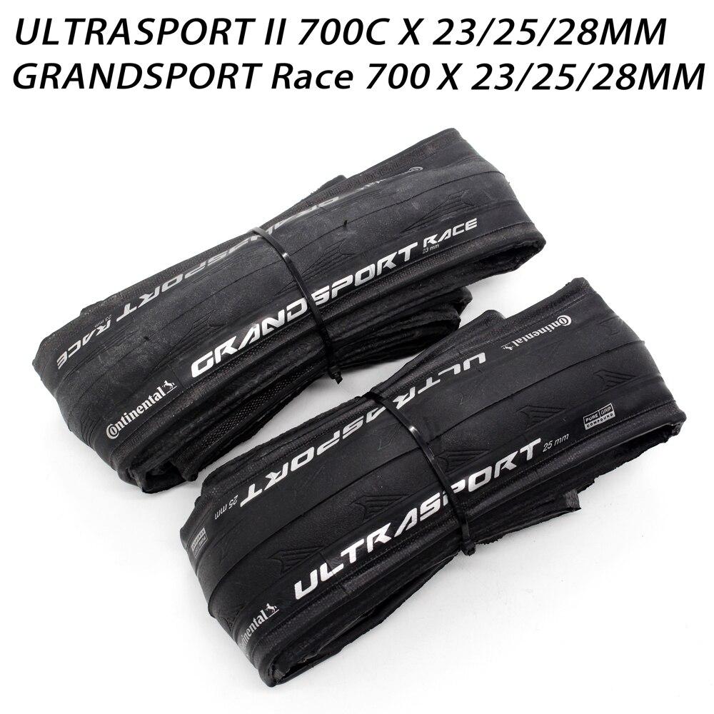 28 or 32 mm Road Tour Bike Tire Continental Ultra Sport II 700 x 23 //25