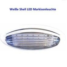 Wodoodporna 12V LED światło Bar markizy lampy owalne lampy ganek 310lm Ultra jasne dla Motorh ome łodzi Camping pasek biały płyta