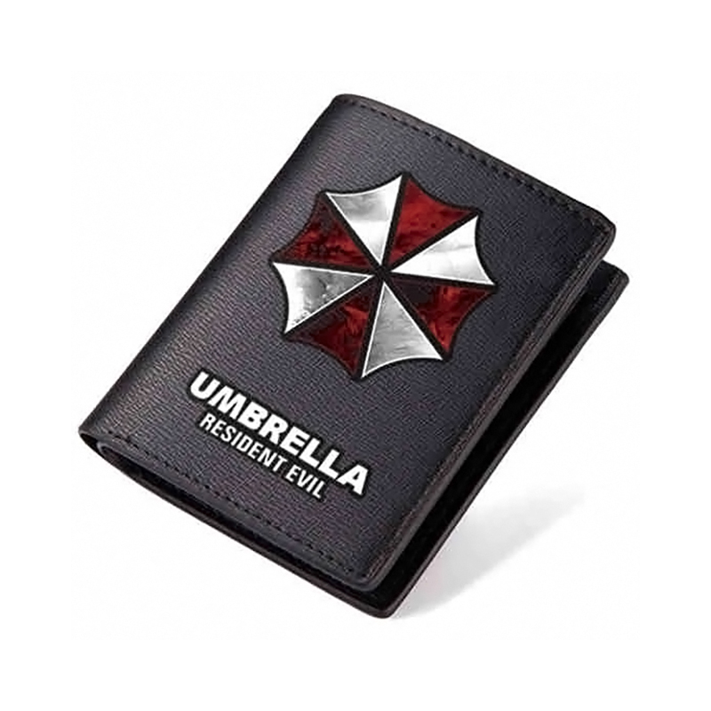Zshop Resident Evil Long Purse Black Short PU Wallet Men Honeycomb Carteira Cool Teenagers Wallets for Boys and Girls