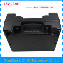 48volt Electric bicycle battery 48V 11AH 48 V ebike Lithium ion battery 11AH with waterproof black case 15A BMS 2A Charger