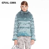 ERAL 2014 New Arrival Winter Coat Women S Slim Elegant Velour Patchwork Short Down Jacket With