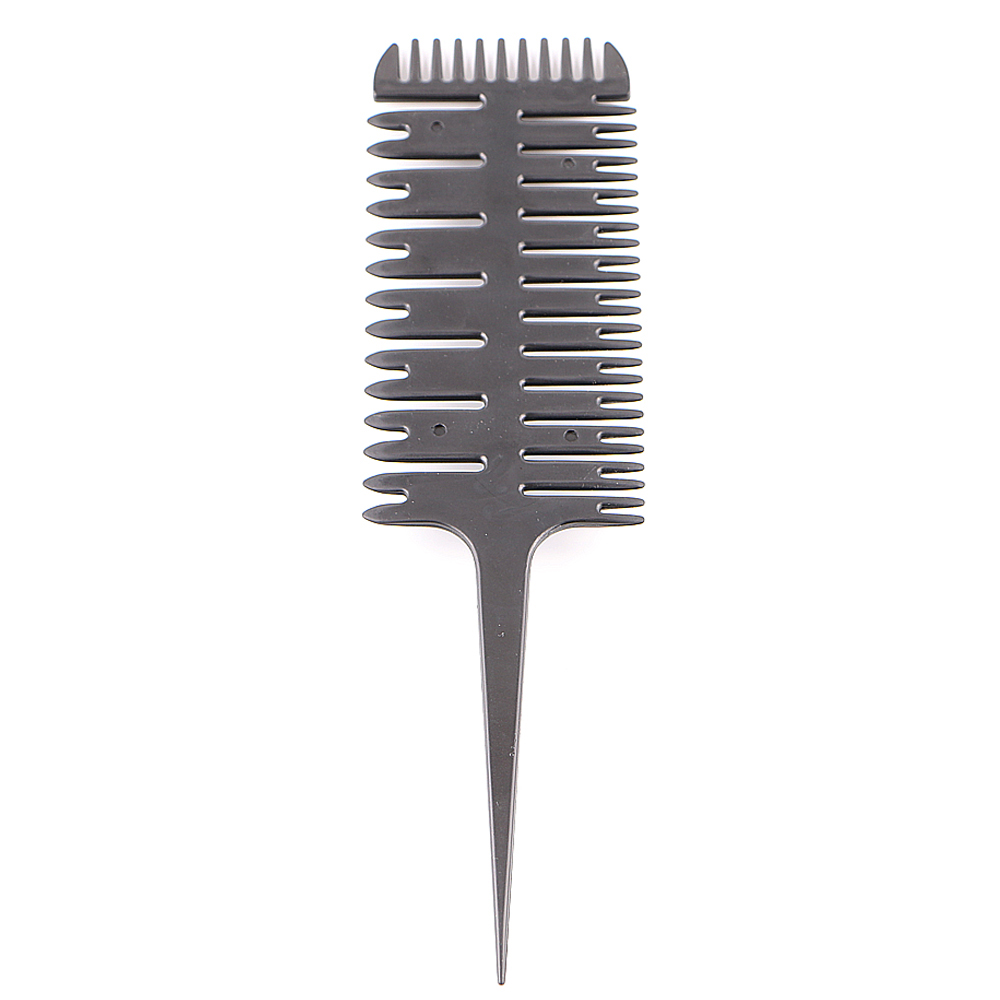New Barber Salon Style Haircut Comb With Tail Fish Bone Shape Colorful Women Updo Big Tooth Comb Hair Dyeing Tool P20