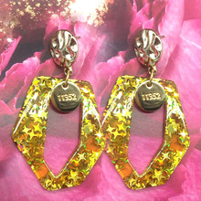 Earrings ladies popular exaggerated pendant earrings new brand natural crystal Brincos Pendientes jewelry Chri