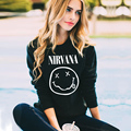 New Autumn Sudaderas Mujer 2017 Black Hoodies Women Casual NIRVANA Letter Print Long Sleeve Women Sweatshirt Tumblr Moletom Punk