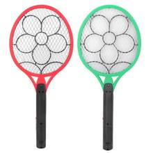 Cordless Battery Power Electric Fly Mosquito Swatter Bug Zapper Racket Insects Killer red, green(China)