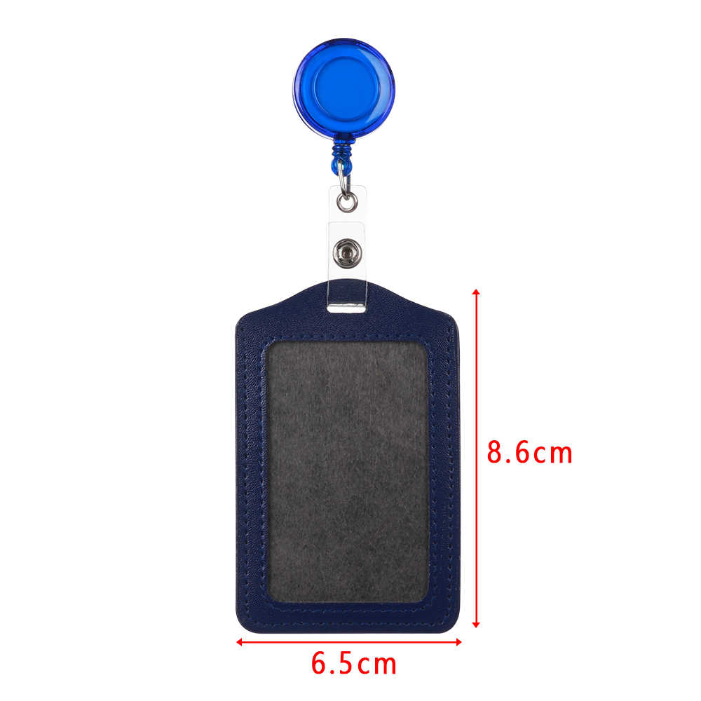 Wholesale Cheap Bank Credit Card Holders Unisex Bus ID Holders Identity Card Bag Red Yellow Blue Badge with Retractable Reel