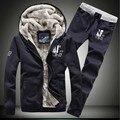 Fashion Men Sportswear Hooded Tracksuit Print Tracksuit Set Solid Casual Sweatshirt Suit Men Hoodies Sets Coat +Pants B0171