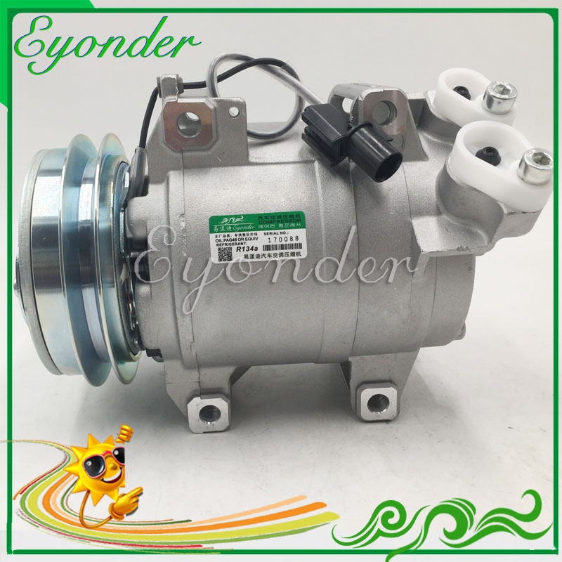 DKS15D Air Conditioning A/C Compressor for MITSUBISHI L200 TRITON Pick Up Pickup 2.5 KB4T 4D56 5060121511 MN123626 5062119191 new common rail injector 095000 9560 for mitsubishi 4d56 triton l200 1465a257