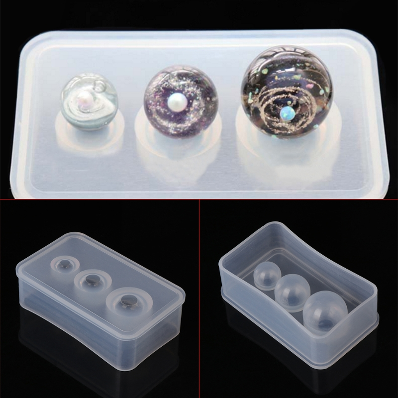 Silicone Mold Mirror Craft DIY Jewelry Making Universe Ball Shpe Epoxy UV Resin Molds For Jewelry Cake Decoration