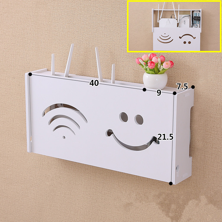 WiFi Router Shelf Wall Mount Router Book Storage Box Router Rack Mount Kit, 40x 21.5 cm Маршрутизатор