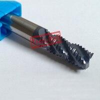 1pc 14mm hrc45 D14*45*D14*100 4Flutes Roughing End Mills Spiral Bit Milling Tools Carbide CNC Endmill Router bits