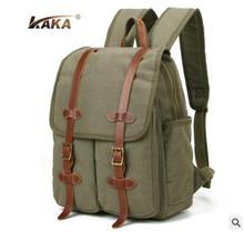 Brand KAKA Men Travel Backpack Millitary Style men laptop backpack Bag waterproof Canvas Rucksacks knapsack men School  bag