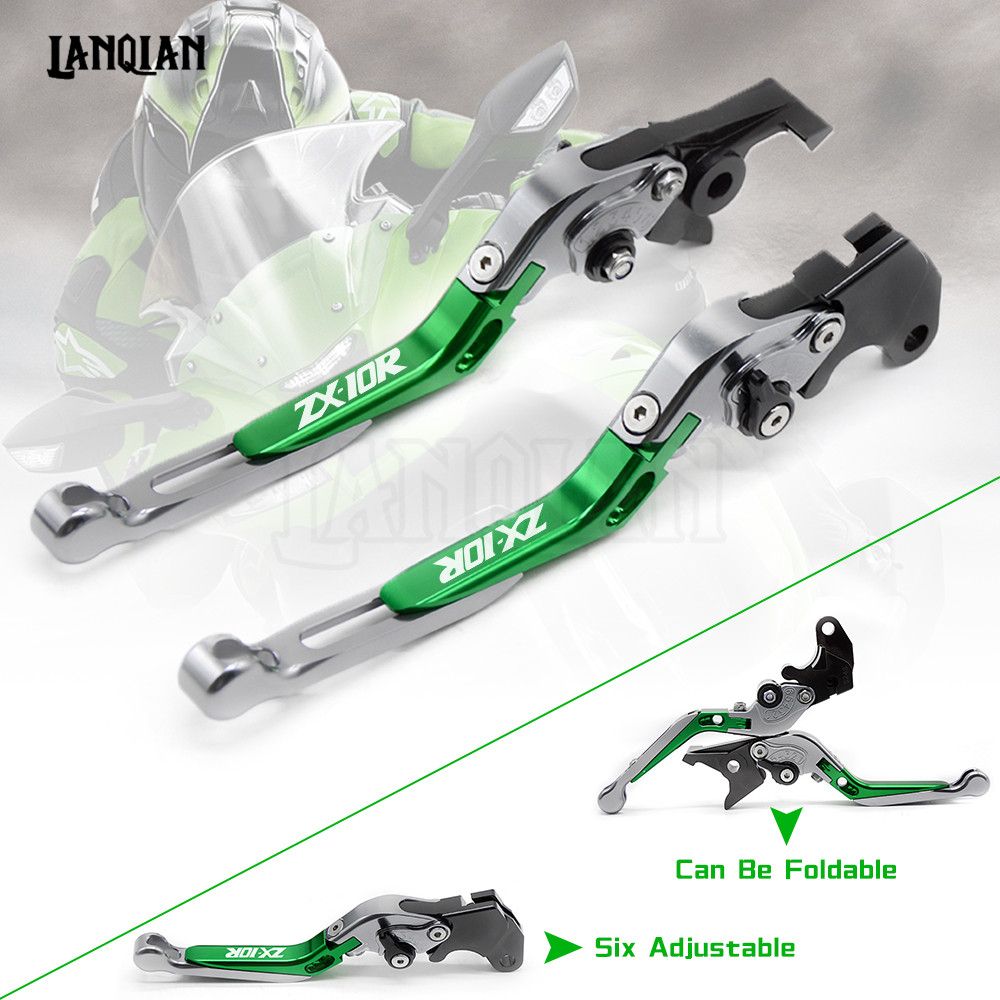 For KAWASAKI ZX10R 2016 2017 2018 Motorcycle Accessories Brake Clutch Levers Adjustable Folding Extendable Lever ZX 10R ZX-10R for kawasaki z1000 2007 2014 motorcycle accessories adjustable folding extendable brake clutch levers lggo